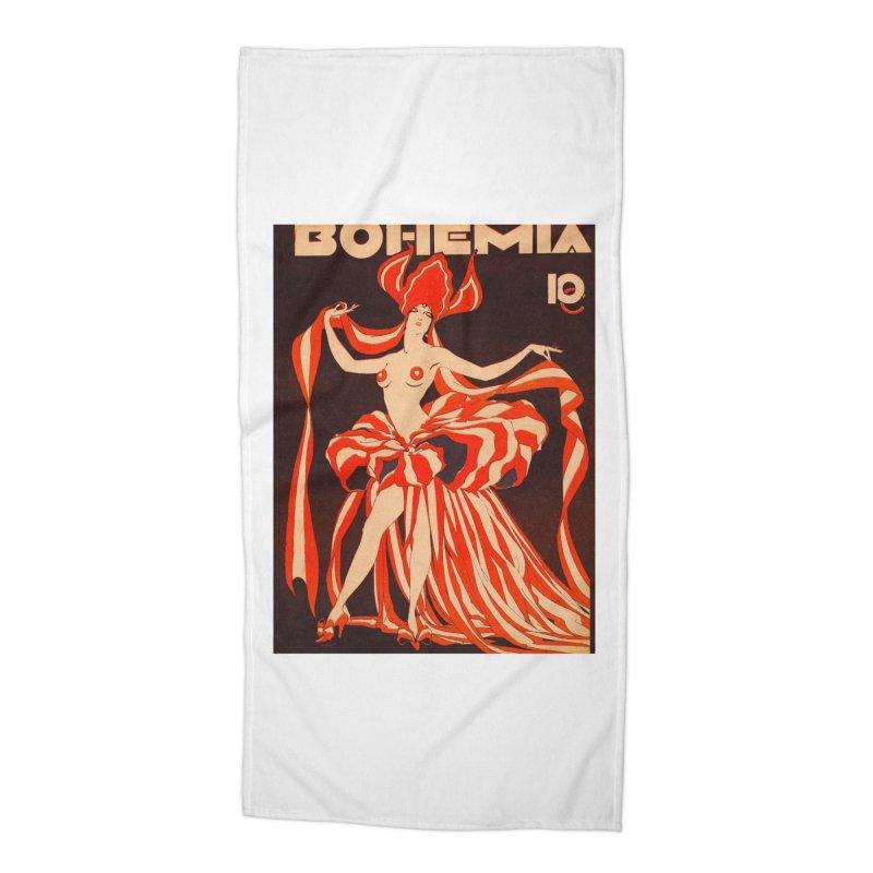 Cuba Bohemia Vintage Magazine Cover 1929 Accessories Beach Towel by The Cuba Travel Store Artist Shop