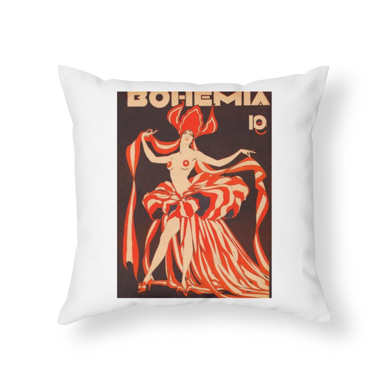 Cuba Bohemia Vintage Magazine Cover 1929 Home Throw Pillow by The Cuba Travel Store Artist Shop