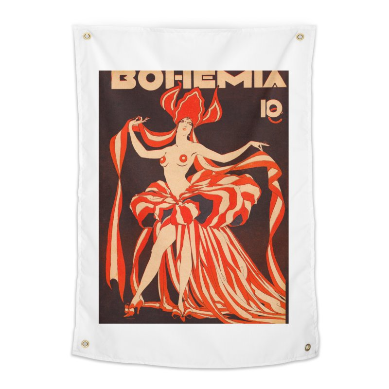 Cuba Bohemia Vintage Magazine Cover 1929 Home Tapestry by The Cuba Travel Store Artist Shop