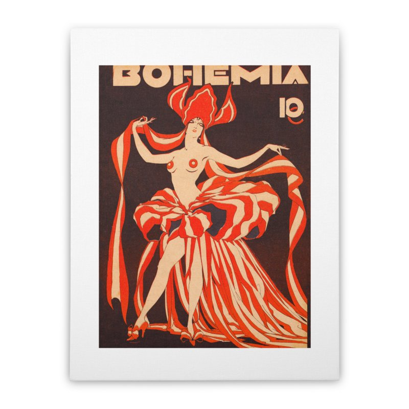 Cuba Bohemia Vintage Magazine Cover 1929 Home Stretched Canvas by The Cuba Travel Store Artist Shop