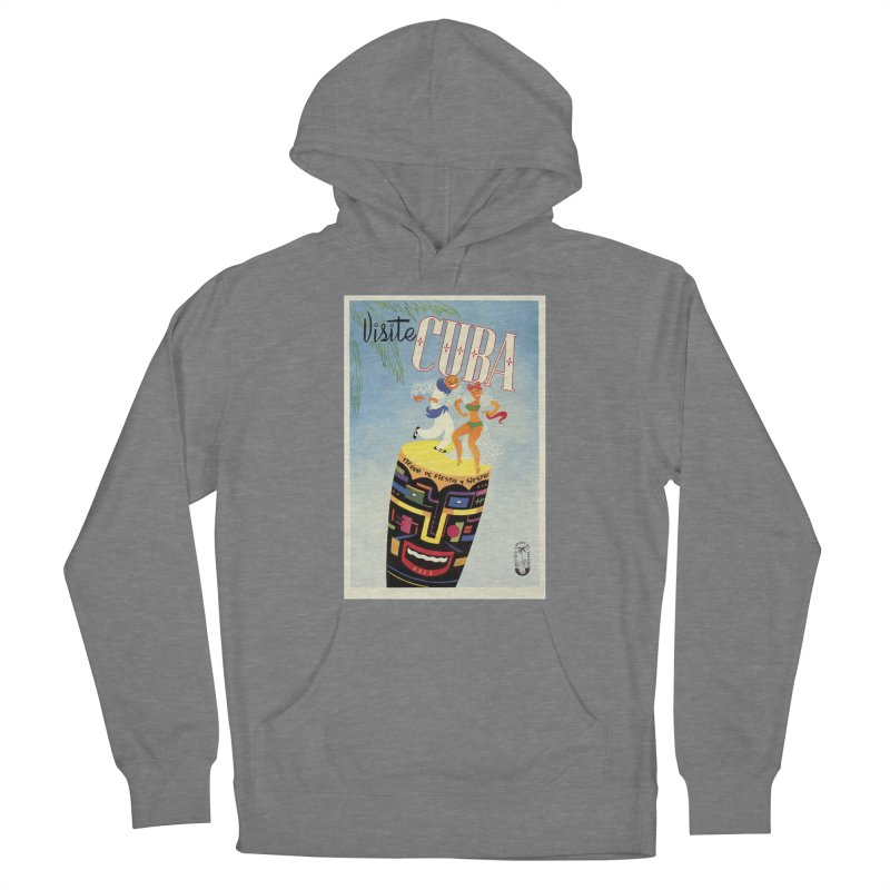 Cuba Vintage Travel Poster 1950s Women's Pullover Hoody by The Cuba Travel Store Artist Shop
