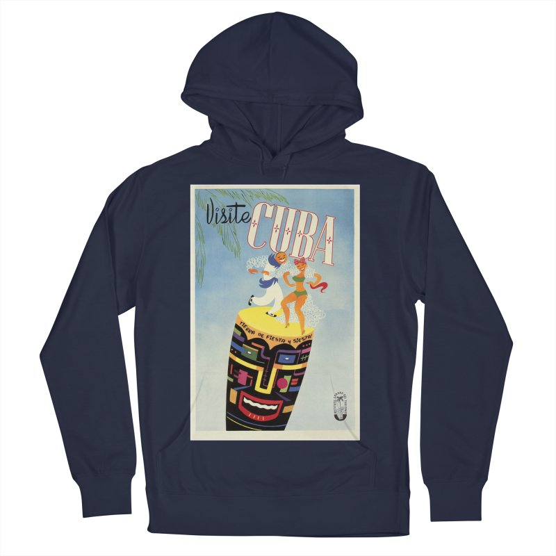 Cuba Vintage Travel Poster 1950s Women's French Terry Pullover Hoody by The Cuba Travel Store Artist Shop