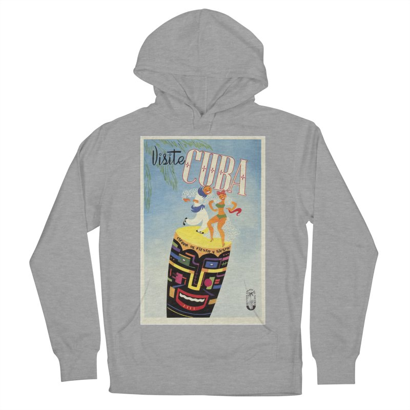 Cuba Vintage Travel Poster 1950s Men's French Terry Pullover Hoody by The Cuba Travel Store Artist Shop