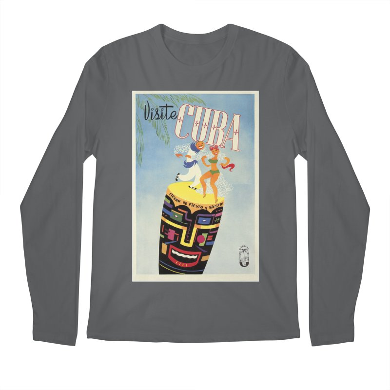 Cuba Vintage Travel Poster 1950s Men's Longsleeve T-Shirt by The Cuba Travel Store Artist Shop
