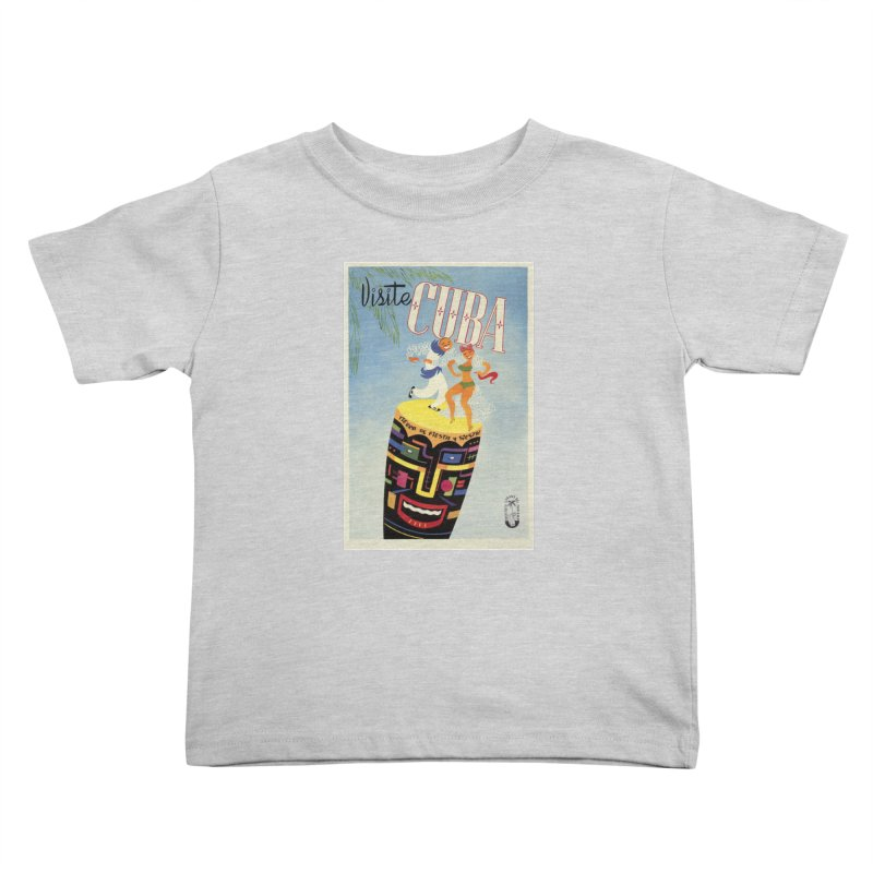 Cuba Vintage Travel Poster 1950s Kids Toddler T-Shirt by The Cuba Travel Store Artist Shop