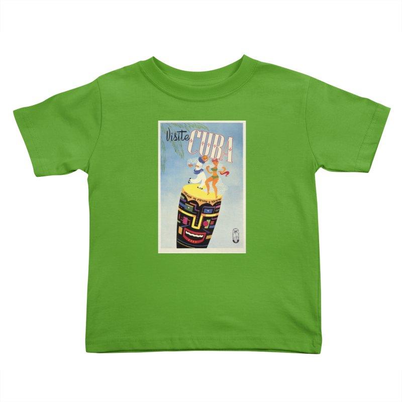 Cuba Vintage Travel Poster 1950s Kids Toddler T-Shirt by The Cuba Travel Store Artist Shop