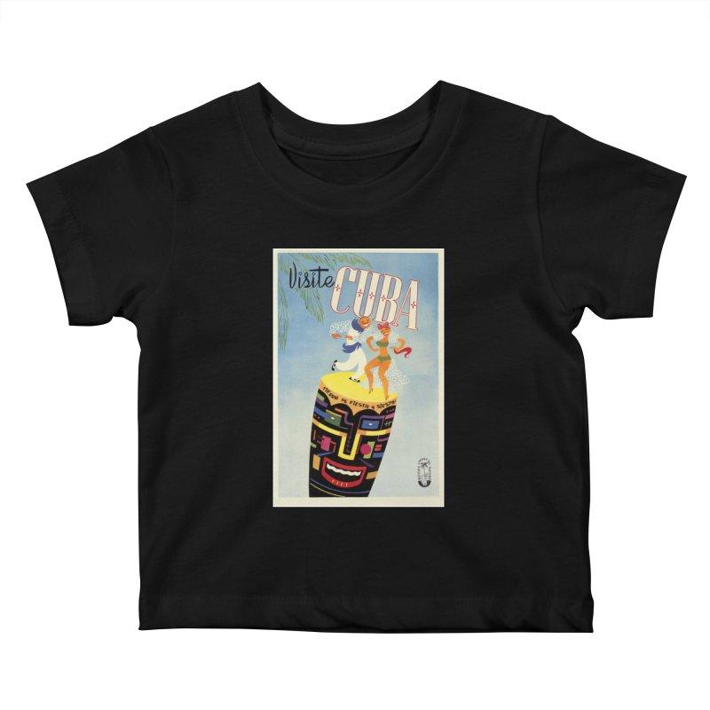 Cuba Vintage Travel Poster 1950s Kids Baby T-Shirt by The Cuba Travel Store Artist Shop