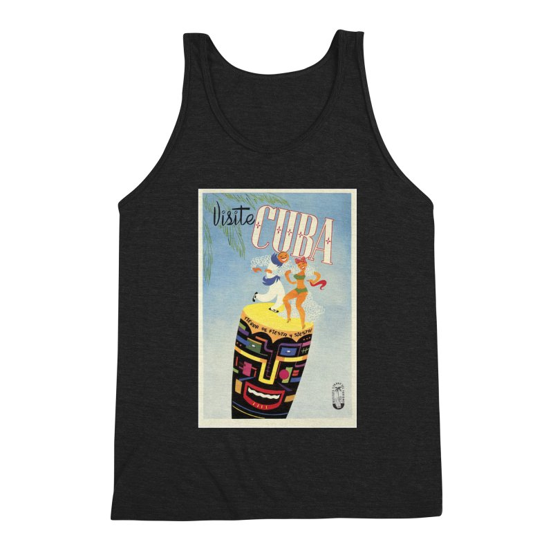 Cuba Vintage Travel Poster 1950s Men's Tank by The Cuba Travel Store Artist Shop
