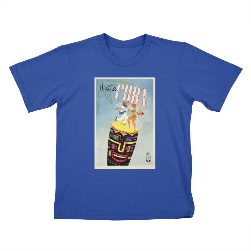 Cuba Vintage Travel Poster 1950s Kids T-Shirt by The Cuba Travel Store Artist Shop