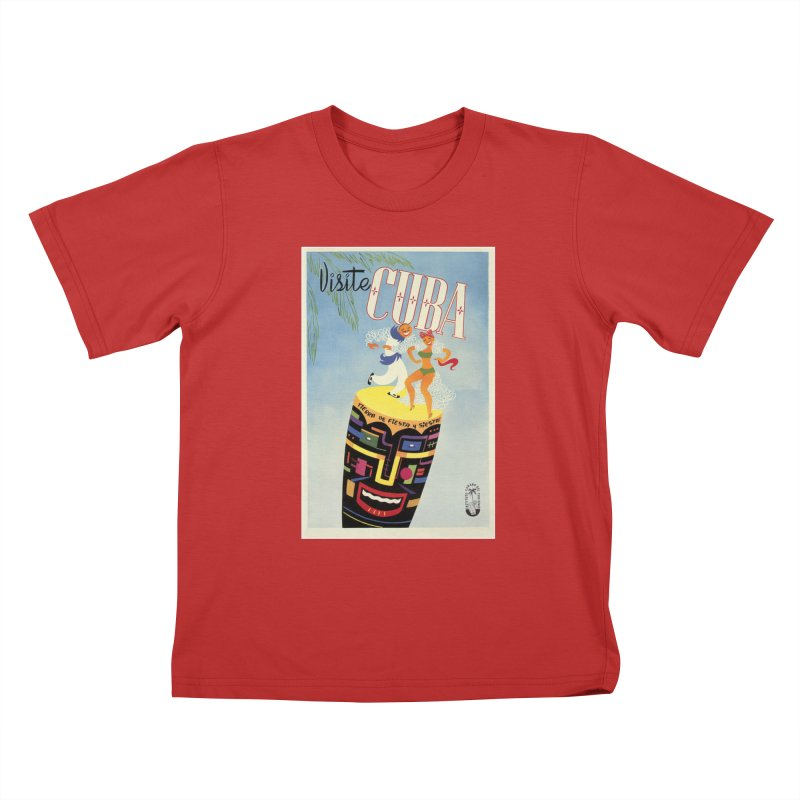 Cuba Vintage Travel Poster 1950s Kids T-Shirt by The Cuba Travel Store Artist Shop