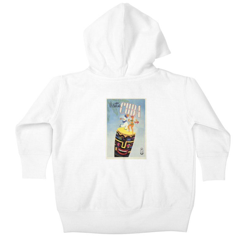 Cuba Vintage Travel Poster 1950s Kids Baby Zip-Up Hoody by The Cuba Travel Store Artist Shop