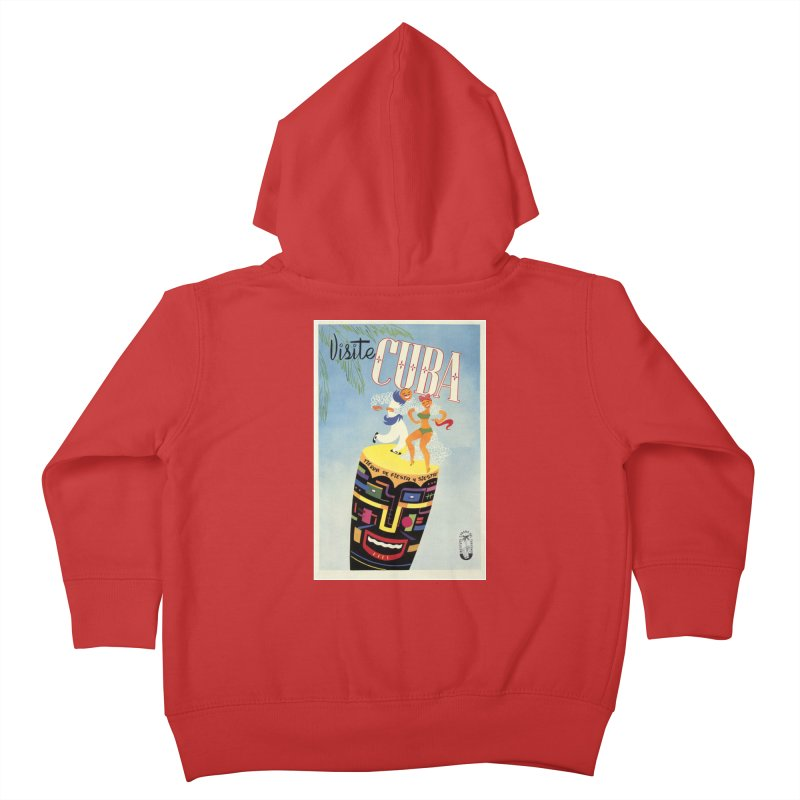 Cuba Vintage Travel Poster 1950s Kids Toddler Zip-Up Hoody by The Cuba Travel Store Artist Shop