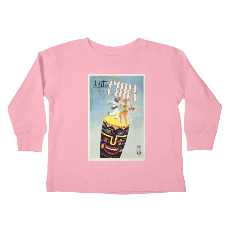Cuba Vintage Travel Poster 1950s Kids Toddler Longsleeve T-Shirt by The Cuba Travel Store Artist Shop