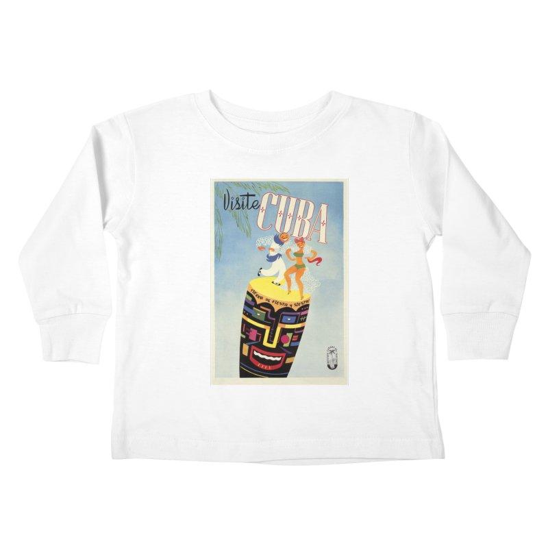 Cuba Vintage Travel Poster 1950s Kids Toddler Longsleeve T-Shirt by The Cuba Travel Store Artist Shop