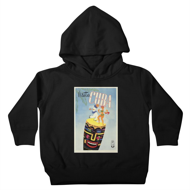 Cuba Vintage Travel Poster 1950s Kids Toddler Pullover Hoody by The Cuba Travel Store Artist Shop