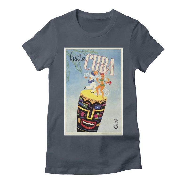 Cuba Vintage Travel Poster 1950s Women's T-Shirt by The Cuba Travel Store Artist Shop