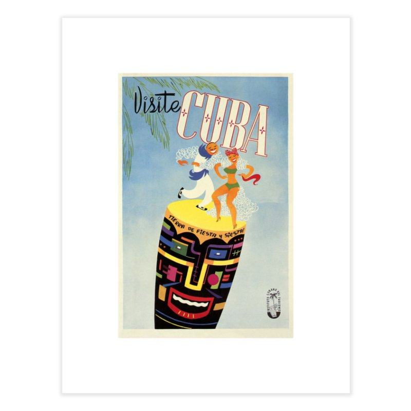 Cuba Vintage Travel Poster 1950s Home Fine Art Print by The Cuba Travel Store Artist Shop