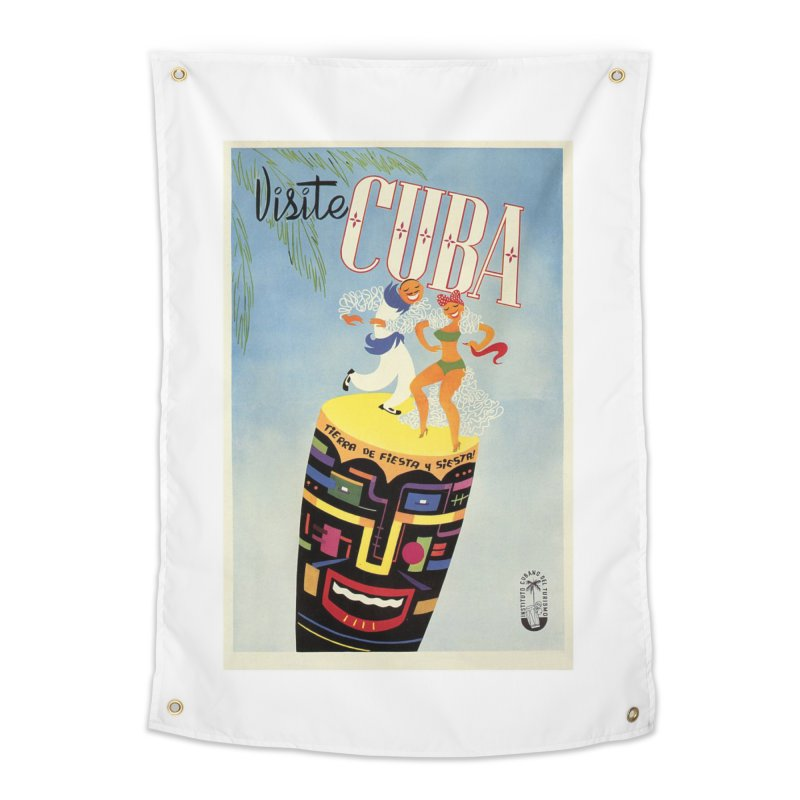 Cuba Vintage Travel Poster 1950s Home Tapestry by The Cuba Travel Store Artist Shop