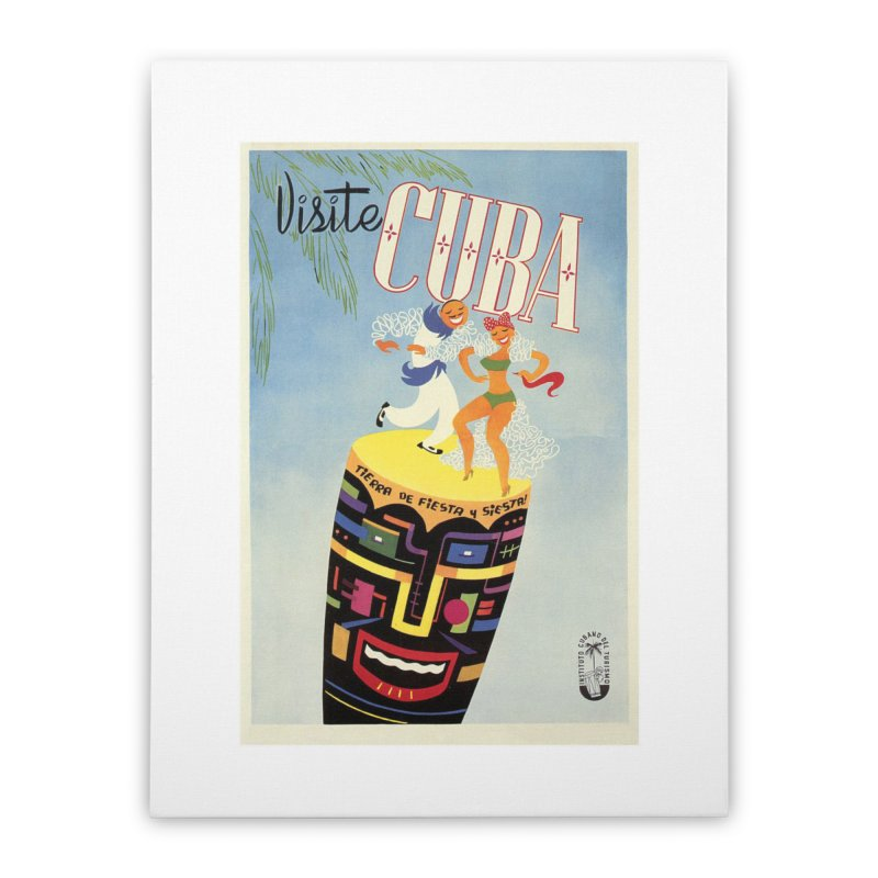 Cuba Vintage Travel Poster 1950s Home Stretched Canvas by The Cuba Travel Store Artist Shop