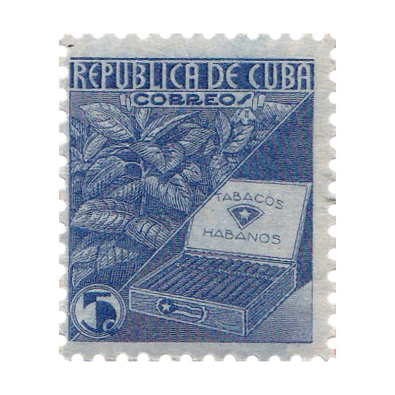 Cuba Vintage Stamp Art  Men's Longsleeve T-Shirt by The Cuba Travel Store Artist Shop