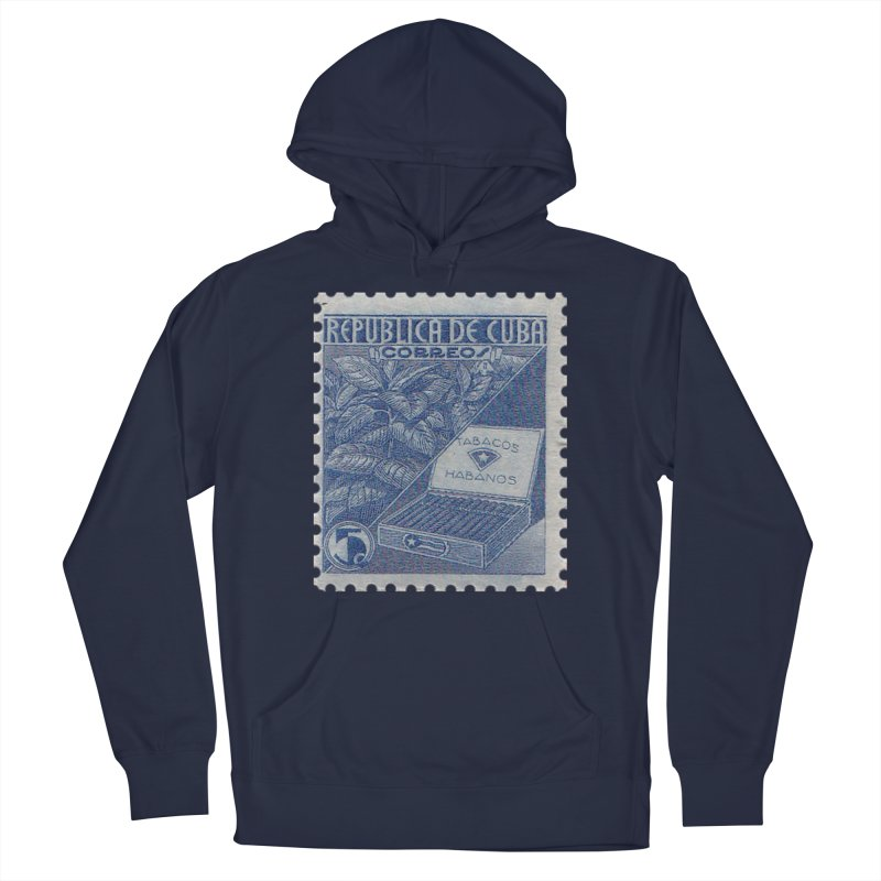Cuba Vintage Stamp Art  Men's Pullover Hoody by The Cuba Travel Store Artist Shop