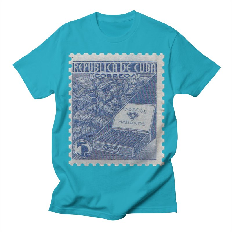 Cuba Vintage Stamp Art  Men's T-Shirt by The Cuba Travel Store Artist Shop