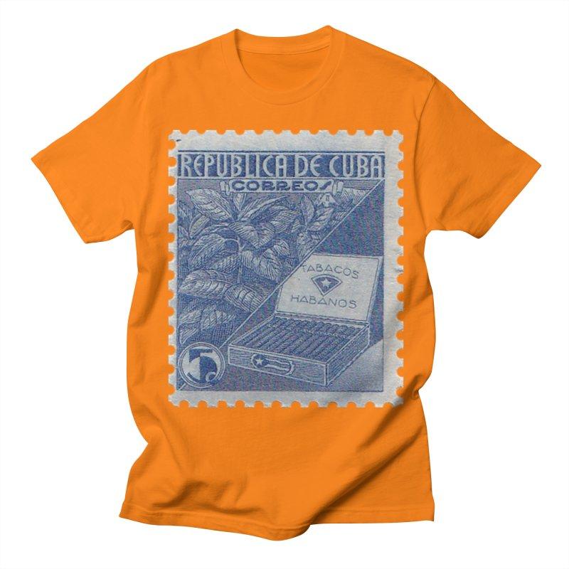 Cuba Vintage Stamp Art  Men's Regular T-Shirt by The Cuba Travel Store Artist Shop