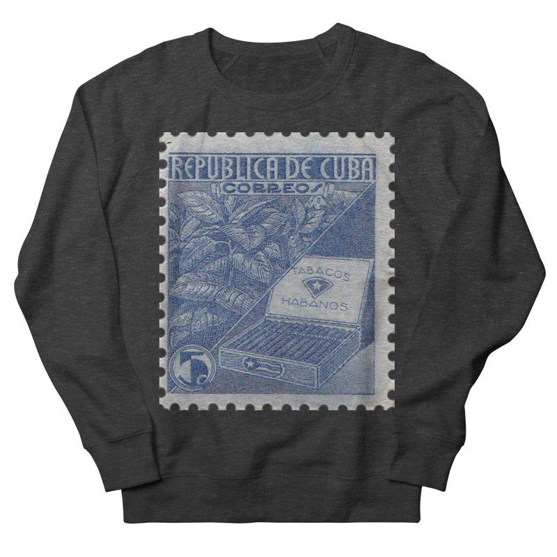 Cuba Vintage Stamp Art  Women's French Terry Sweatshirt by The Cuba Travel Store Artist Shop