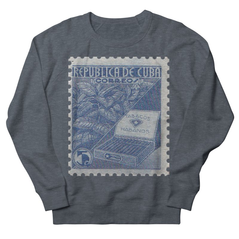 Cuba Vintage Stamp Art  Men's French Terry Sweatshirt by The Cuba Travel Store Artist Shop