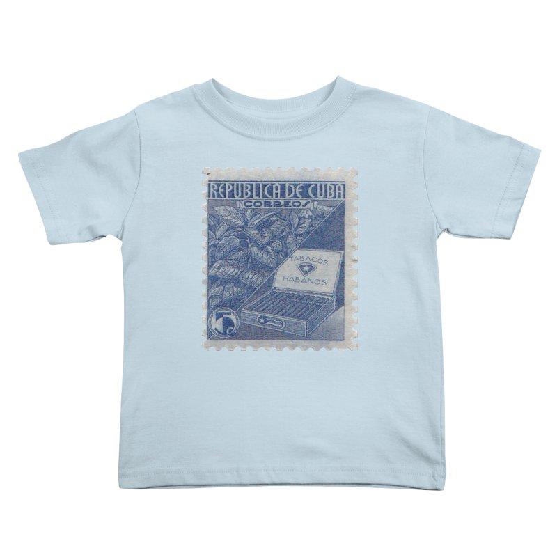 Cuba Vintage Stamp Art  Kids Toddler T-Shirt by The Cuba Travel Store Artist Shop