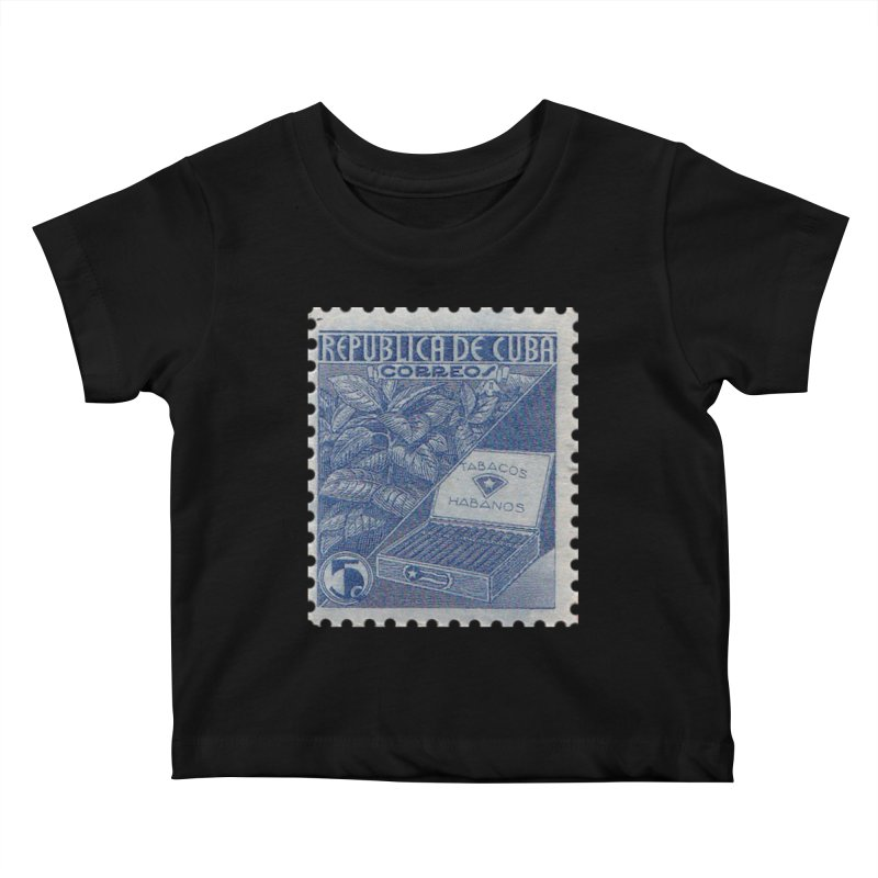 Cuba Vintage Stamp Art  Kids Baby T-Shirt by The Cuba Travel Store Artist Shop