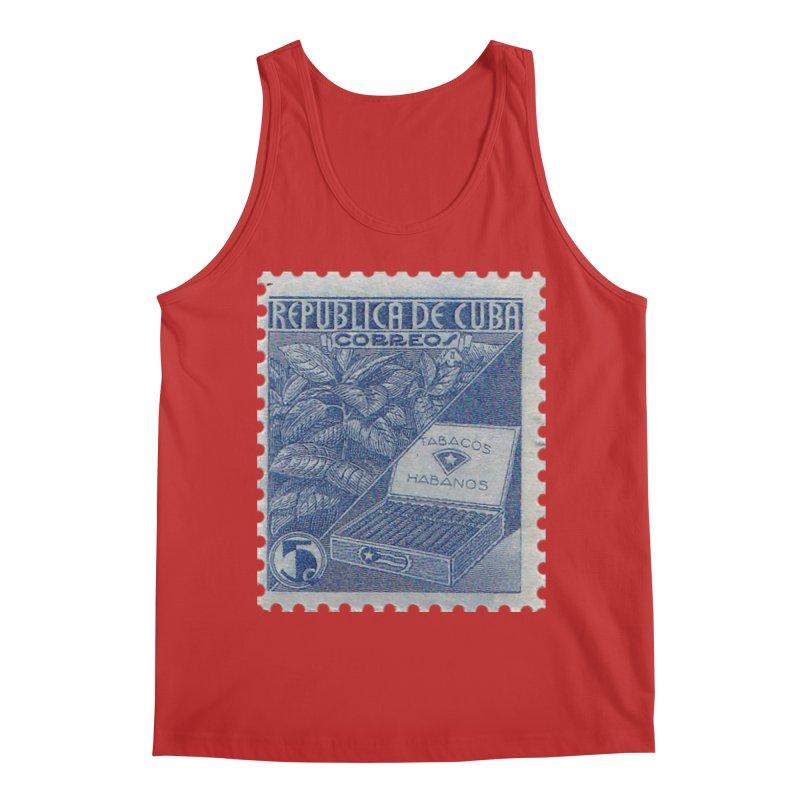 Cuba Vintage Stamp Art  Men's Tank by The Cuba Travel Store Artist Shop