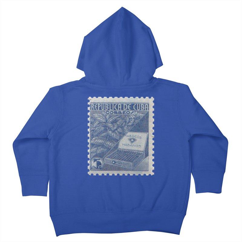 Cuba Vintage Stamp Art  Kids Toddler Zip-Up Hoody by The Cuba Travel Store Artist Shop