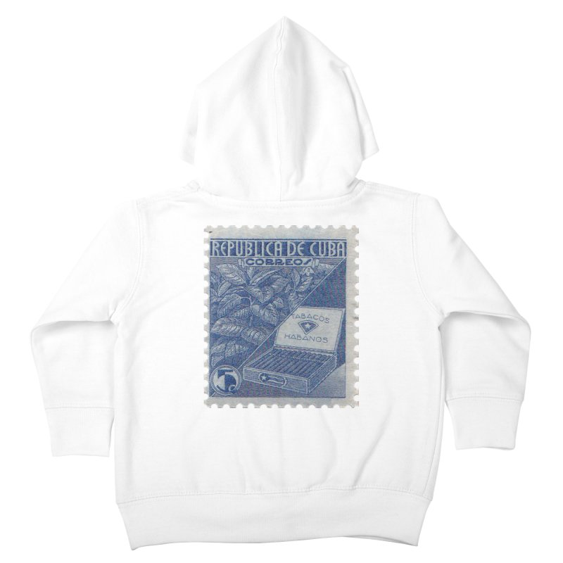 Cuba Vintage Stamp Art  Kids Toddler Zip-Up Hoody by The Cuba Travel Store Artist Shop