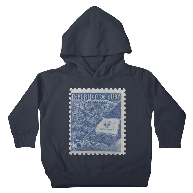 Cuba Vintage Stamp Art  Kids Toddler Pullover Hoody by The Cuba Travel Store Artist Shop
