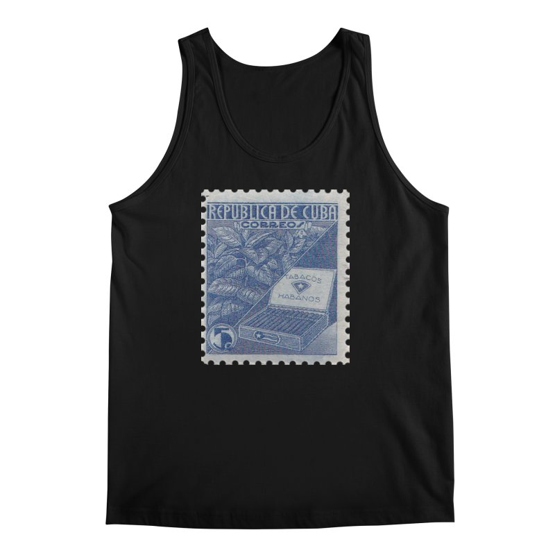 Cuba Vintage Stamp Art  Men's Regular Tank by The Cuba Travel Store Artist Shop