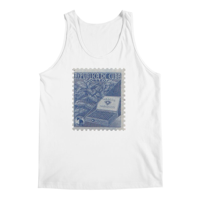 Cuba Vintage Stamp Art  Men's Regular Tank by The Cuba Travel Store Artist Shop