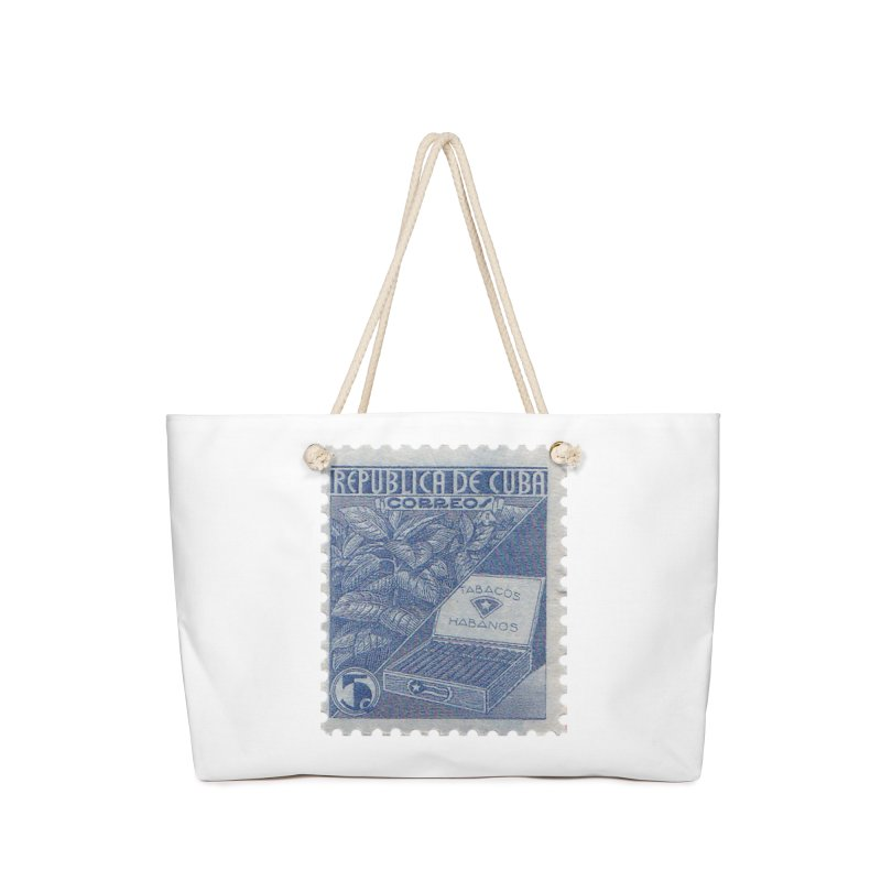 Cuba Vintage Stamp Art  Accessories Bag by The Cuba Travel Store Artist Shop