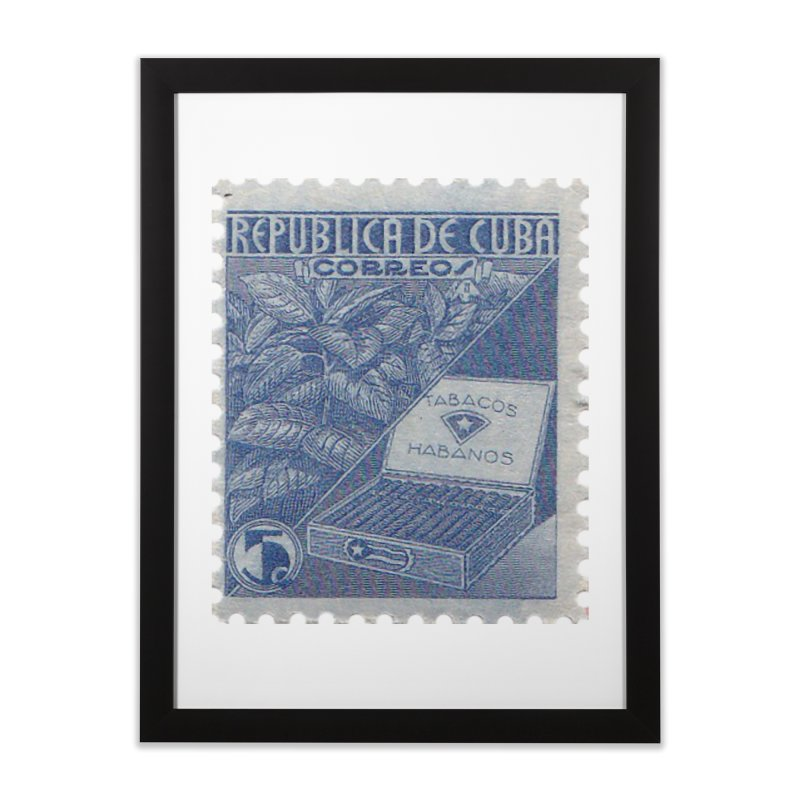 Cuba Vintage Stamp Art  Home Framed Fine Art Print by The Cuba Travel Store Artist Shop