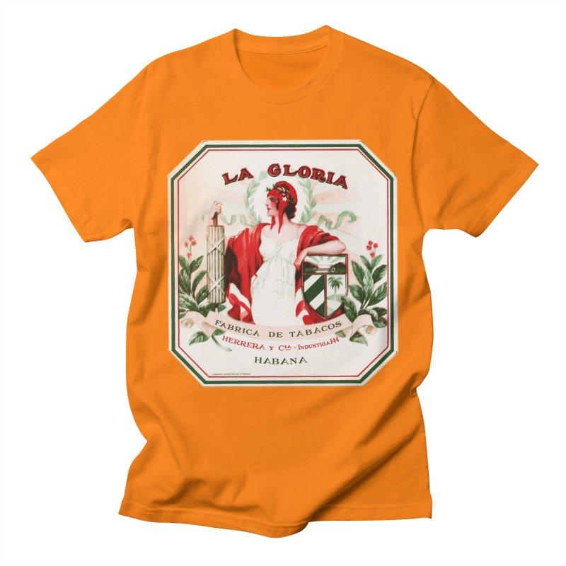 Cuba La Gloria Vintage Cigar Label 1930s Men's T-Shirt by The Cuba Travel Store Artist Shop
