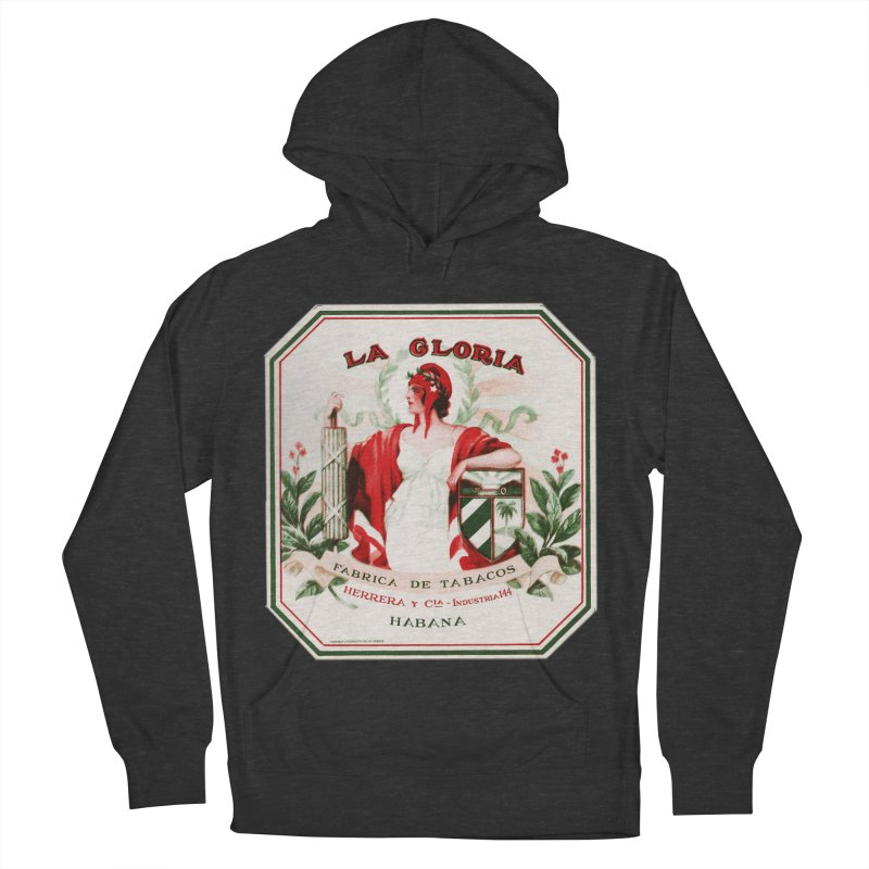 Cuba La Gloria Vintage Cigar Label 1930s Women's French Terry Pullover Hoody by The Cuba Travel Store Artist Shop