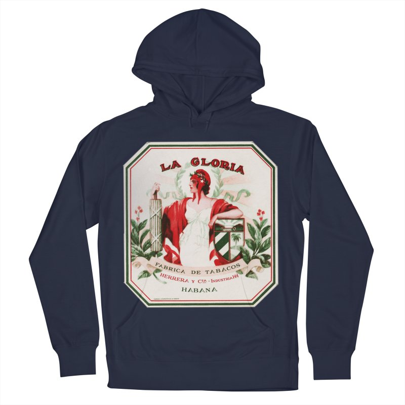 Cuba La Gloria Vintage Cigar Label 1930s Men's French Terry Pullover Hoody by The Cuba Travel Store Artist Shop