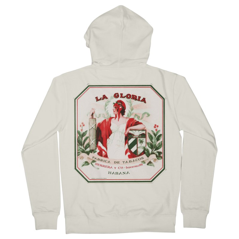 Cuba La Gloria Vintage Cigar Label 1930s Women's Zip-Up Hoody by The Cuba Travel Store Artist Shop
