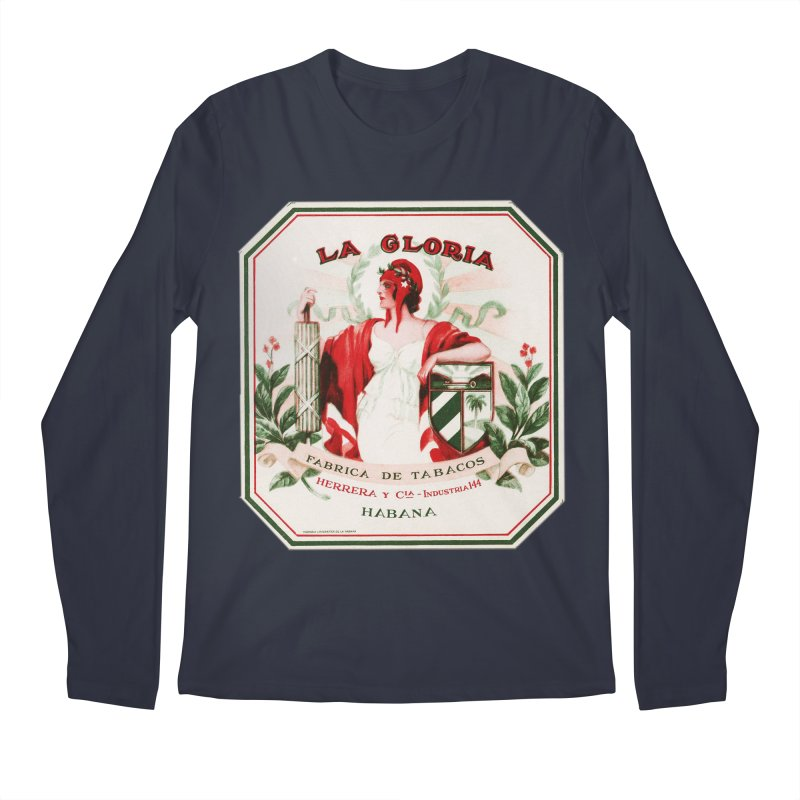 Cuba La Gloria Vintage Cigar Label 1930s Men's Regular Longsleeve T-Shirt by The Cuba Travel Store Artist Shop