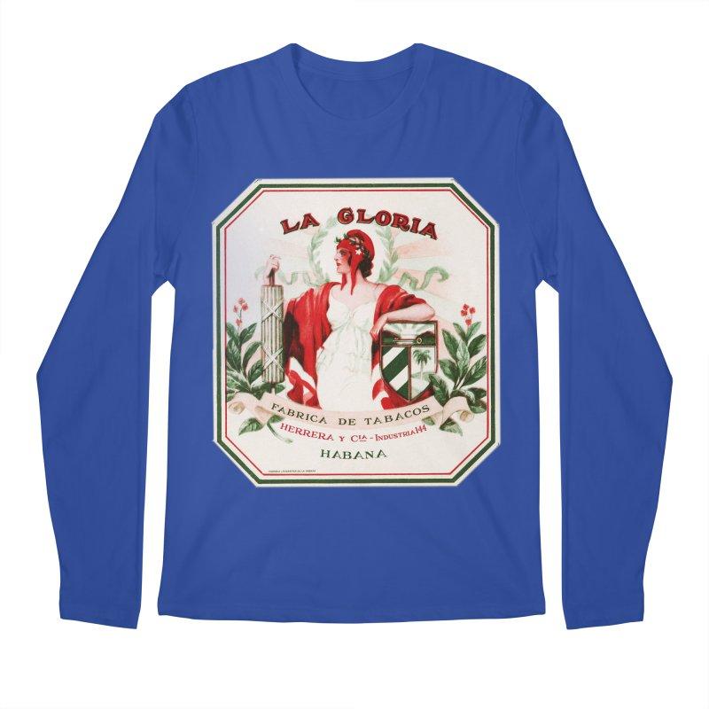 Cuba La Gloria Vintage Cigar Label 1930s Men's Longsleeve T-Shirt by The Cuba Travel Store Artist Shop