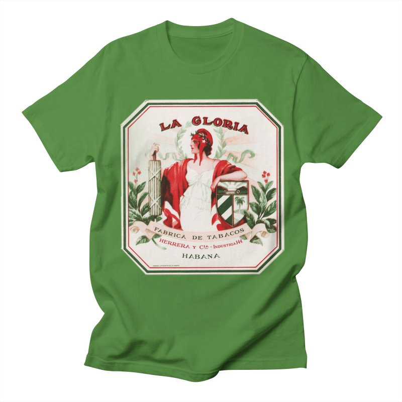 Cuba La Gloria Vintage Cigar Label 1930s Men's T-Shirt by The Cuba Travel Store Artist Shop