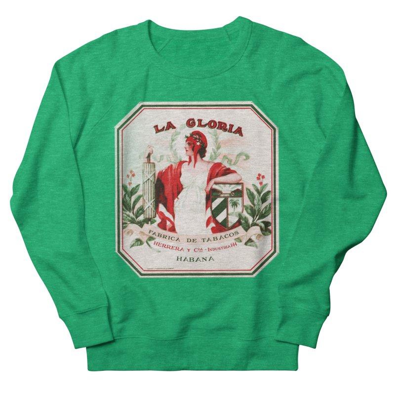 Cuba La Gloria Vintage Cigar Label 1930s Men's French Terry Sweatshirt by The Cuba Travel Store Artist Shop
