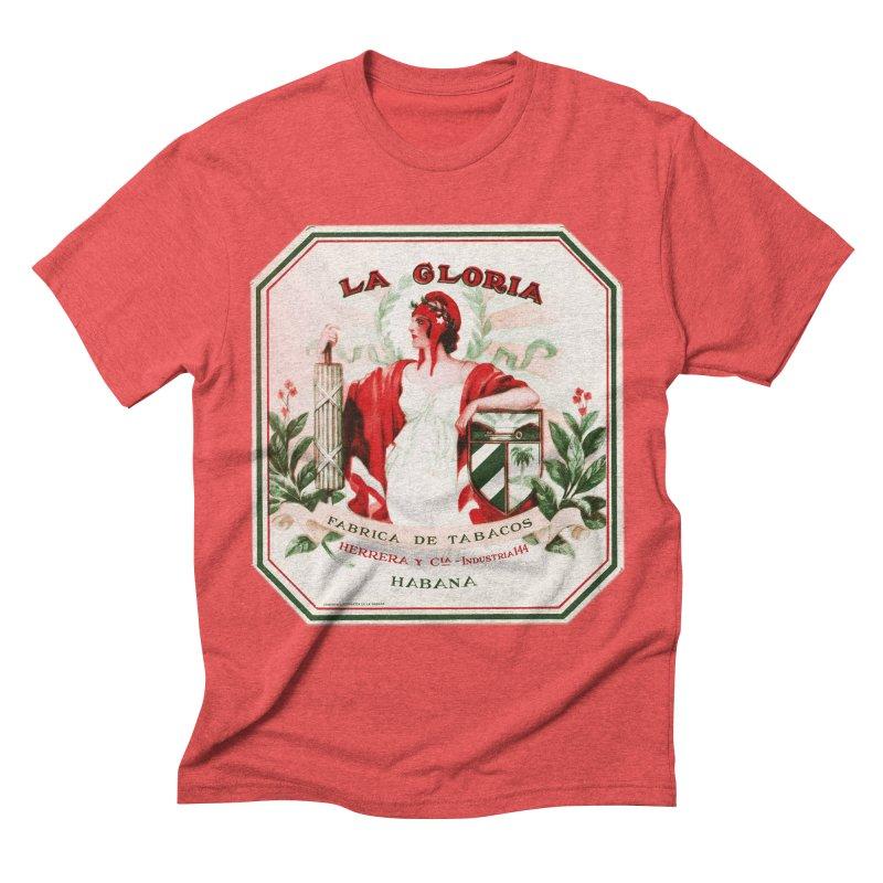 Cuba La Gloria Vintage Cigar Label 1930s Men's Triblend T-Shirt by The Cuba Travel Store Artist Shop