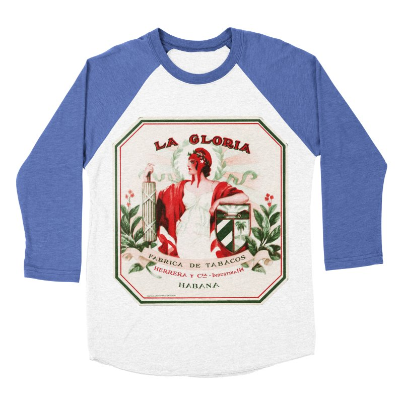 Cuba La Gloria Vintage Cigar Label 1930s Women's Baseball Triblend Longsleeve T-Shirt by The Cuba Travel Store Artist Shop
