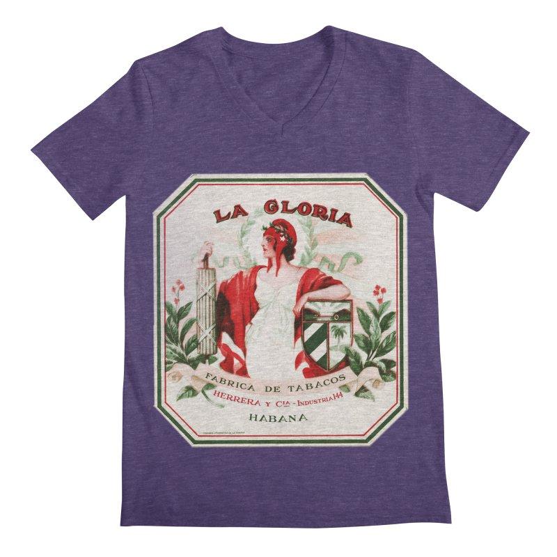Cuba La Gloria Vintage Cigar Label 1930s Men's Regular V-Neck by The Cuba Travel Store Artist Shop